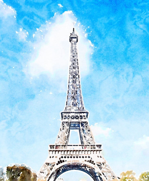 photograph relating to Eiffel Tower Printable titled Immediate Obtain Paris Photograph Artwork, Eiffel Tower Printable, Paris Watercolor Portray