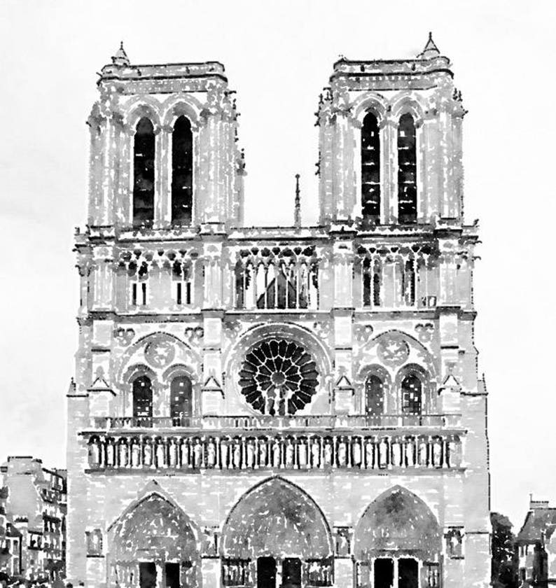 6dd76f26a2237 Instant Download Notre Dame Cathedral Printable Photo Art