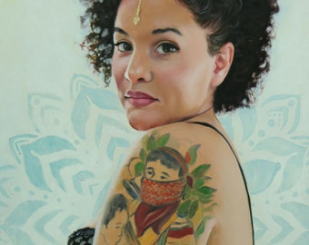 Rebel With A Cause original oil portrait narrative figurative classical figure painting by Kimberly Dow