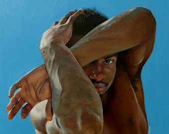 Unprotected original oil classical portrait narrative figurative painting by Kimberly Dow
