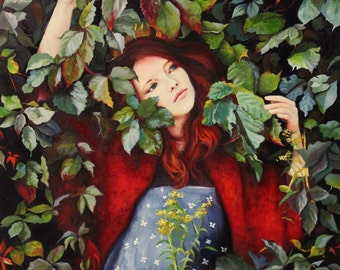 Far and Away original oil classical portrait narrative figurative painting by Kimberly Dow