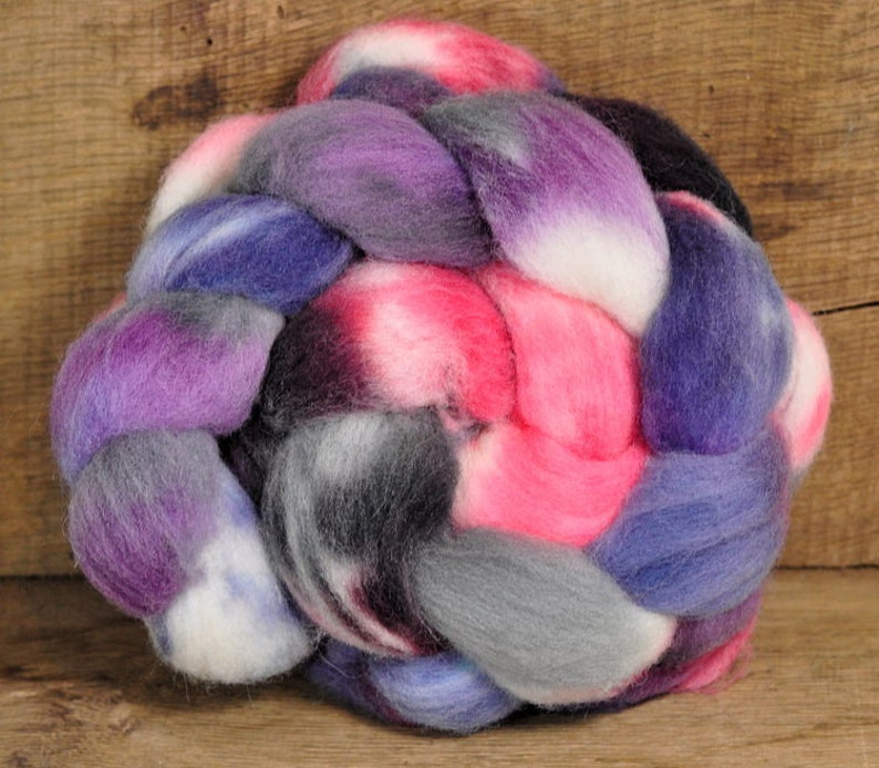 /'Winter Sunset/' Southdown Wool Top for Hand Spinning and Felting