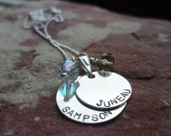 Holiday gift special three personalized custom sterling duo necklaces