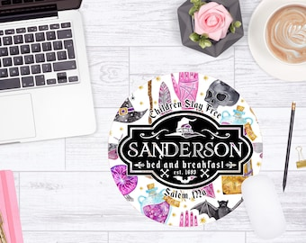 Sanderson Mouse Pad, Sanderson Bed and Breakfast Mouse Mat, Halloween Coworker Gift Mouse Pad, Desk Accessories, Office Decor, Boss Day Gift