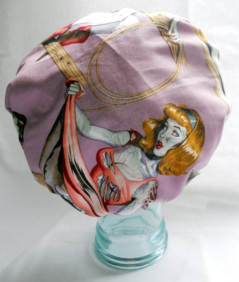 Shower Cap  Vintage Horror Pinup Zombie Girls  Retro image 0