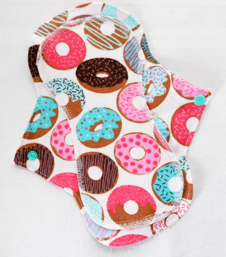 Menstrual Flannel Maxi Pad  9.5 inch Reusable Eco Friendly image 0
