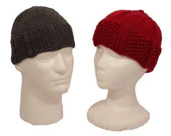 Adult Chestnut Hill Gansey Hat - Knitting Pattern PDF
