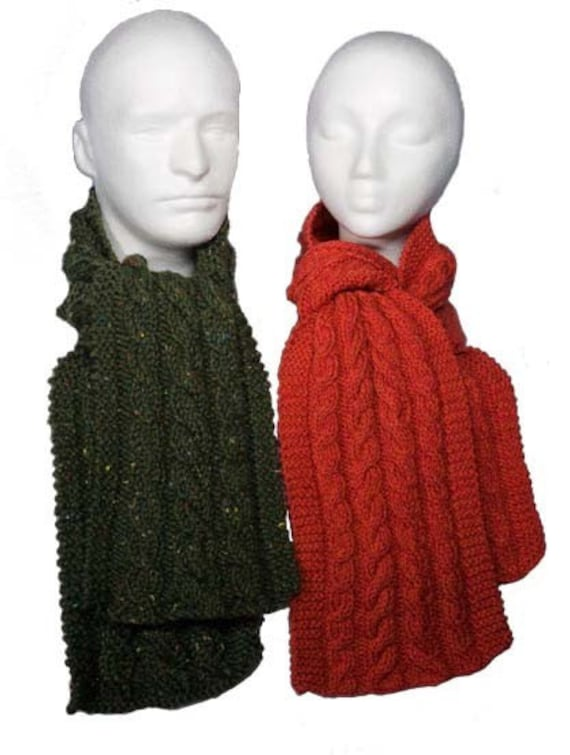 Easy Cable Scarves Pattern Knitting Pattern Pdf Etsy