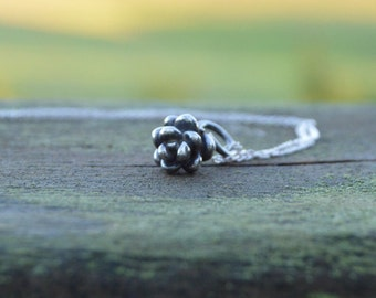 Nature lover - sterling silver cast succulent necklace