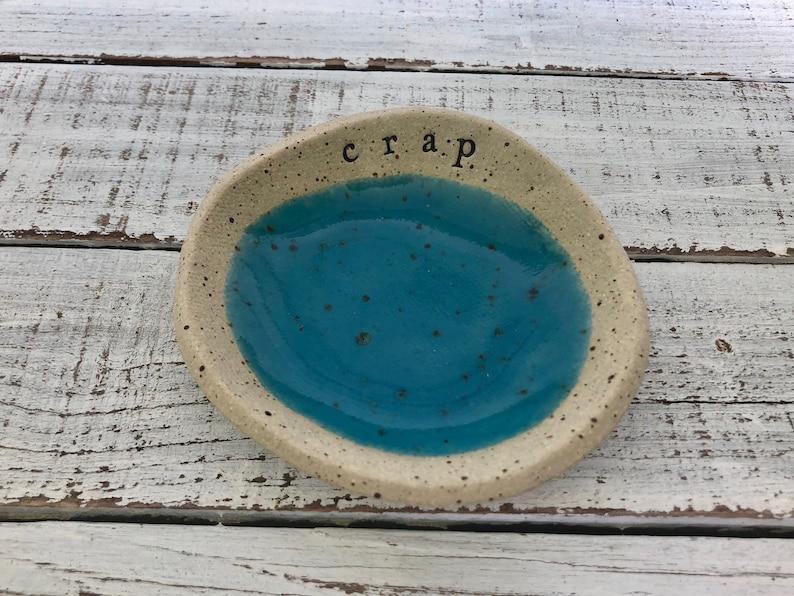 Jewelry Dish- Ring Holder- food prep- salt cellar- candle dish- trinkets Crap- Funny dish bowl- small bowl- trinkets candle bowl