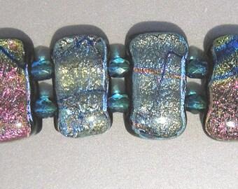 FiredDesires Fused Glass Bracelet - Silver Splendor