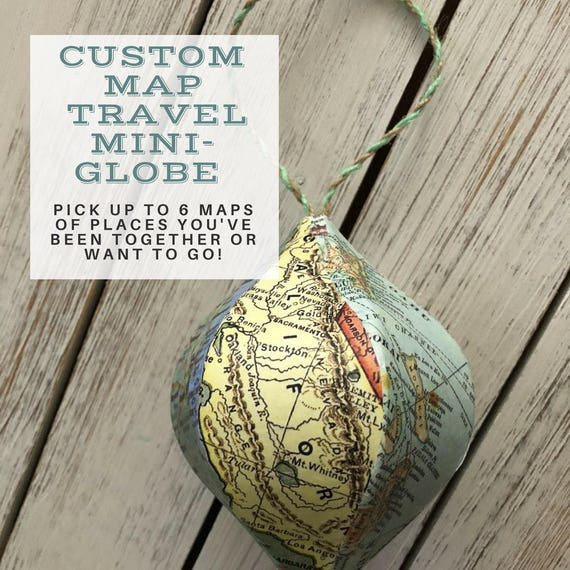 Mini-Globes Wedding Favors 12 pieces Wholesale Custom Maps of your state  city  country  location Ornaments Souvenirs