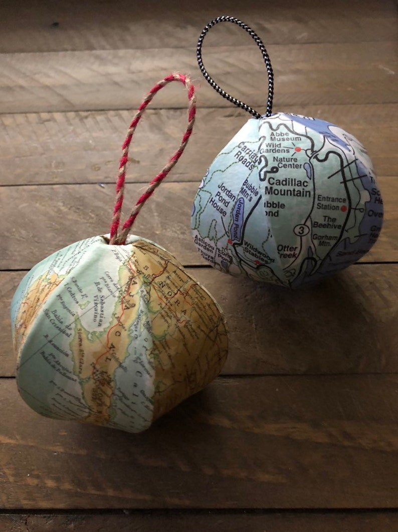 Christmas Ornament Souvenir Wholesale Custom 6-sided Mini-Globe You pick the city state country area