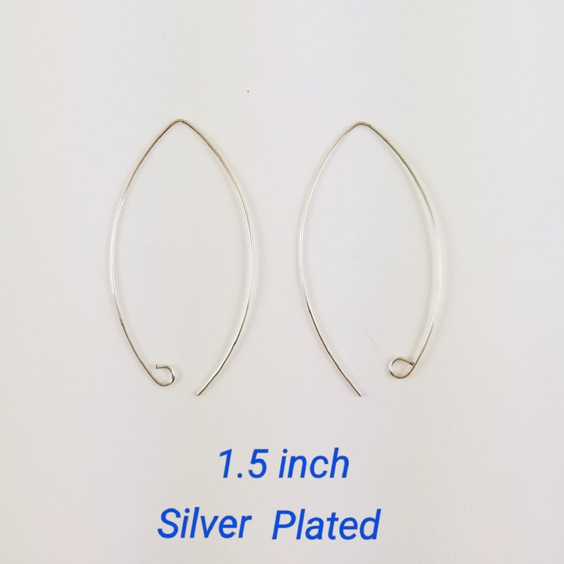 ef471b92232be 1.5, 2 or 3 inch silver threader earrings for pierced ears ultra thin wire  hypoallergenic - gifts for her or mom 782a