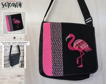 fc37a65702f Flamingo tas klep voor middellange messengertas, veranderlijk klep  collectie ** FLAP alleen **