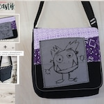 Monster bag flap for MEDIUM messenger bag, changeable flap collection**FLAP ONLY**