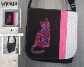 Flower Cat bag flap for M...