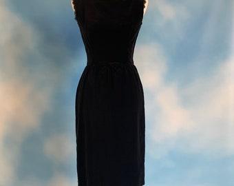 Sz 12 Brett Alixander Vintage Velvet Gold Button Front Dress Crushed Green C019