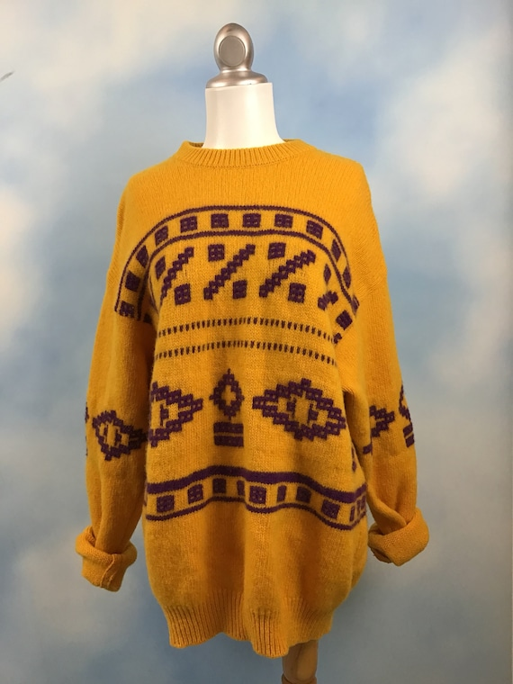 SALE SECTION / 50% off Vintage 80s United Colors of Benetton Oversized Cosby Southwestern Sweater