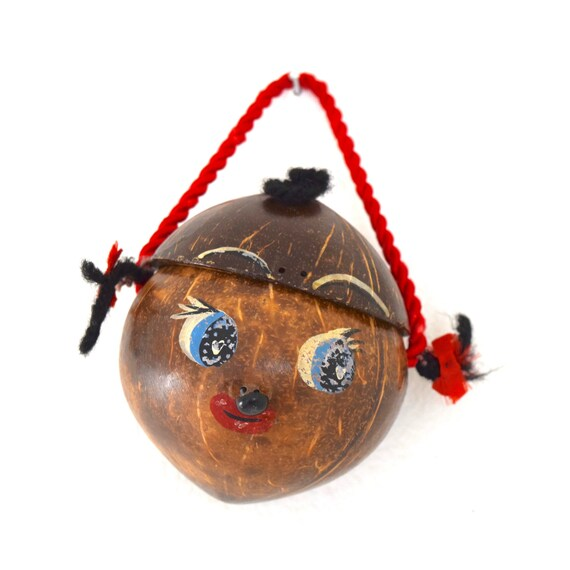 Vintage Mini Coconut Purse