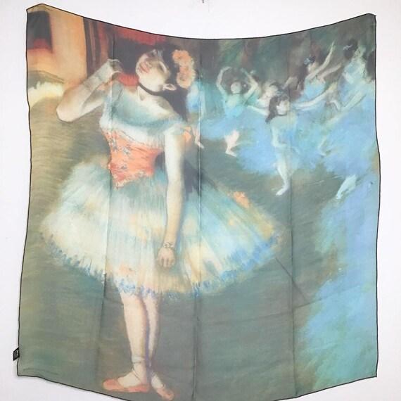 Degas Dancers Graphic Print Sheer Scarf