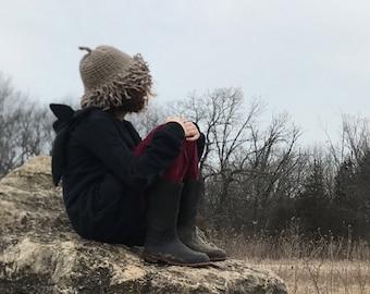Bur Oak Acorn Cap hand-knit hat, Baby / Toddler