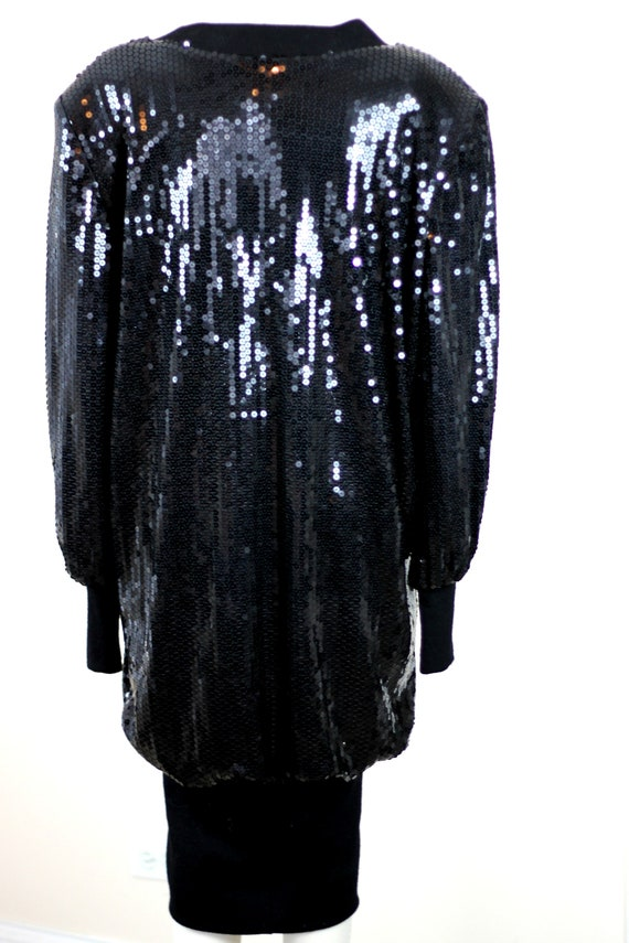 Size 14// 1980s Vintage Sequins Slouch style dres… - image 3