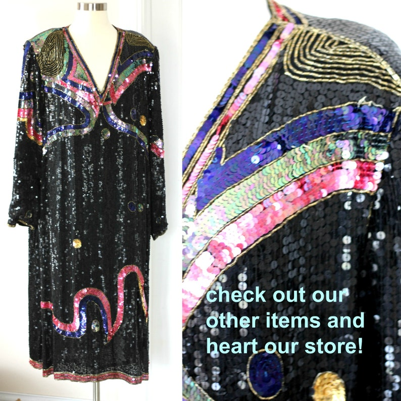 Stunning Plus Size Sequin Beaded Dress Judith Ann Creations 3x