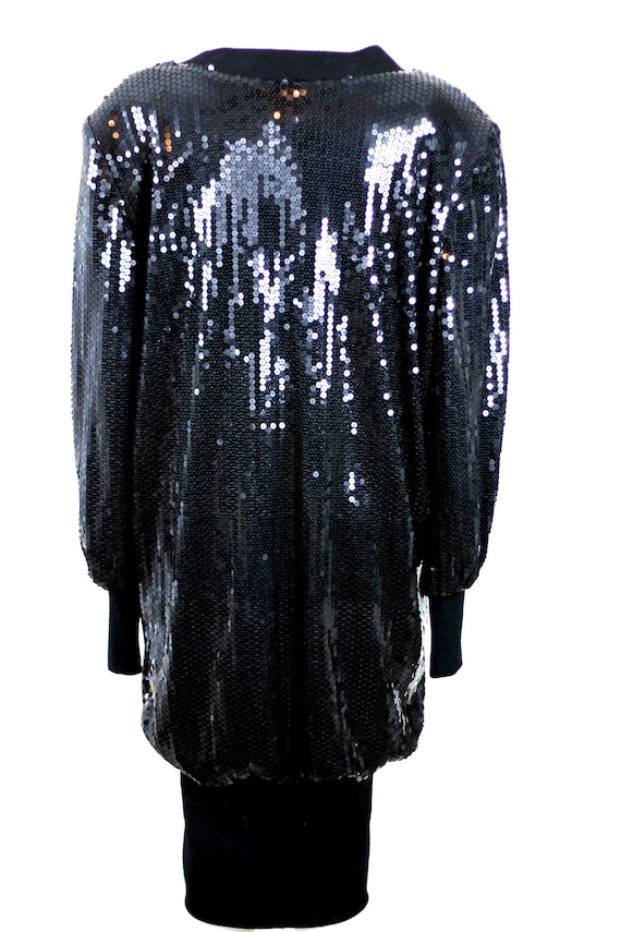 Size 14// 1980s Vintage Sequins Slouch style dres… - image 6
