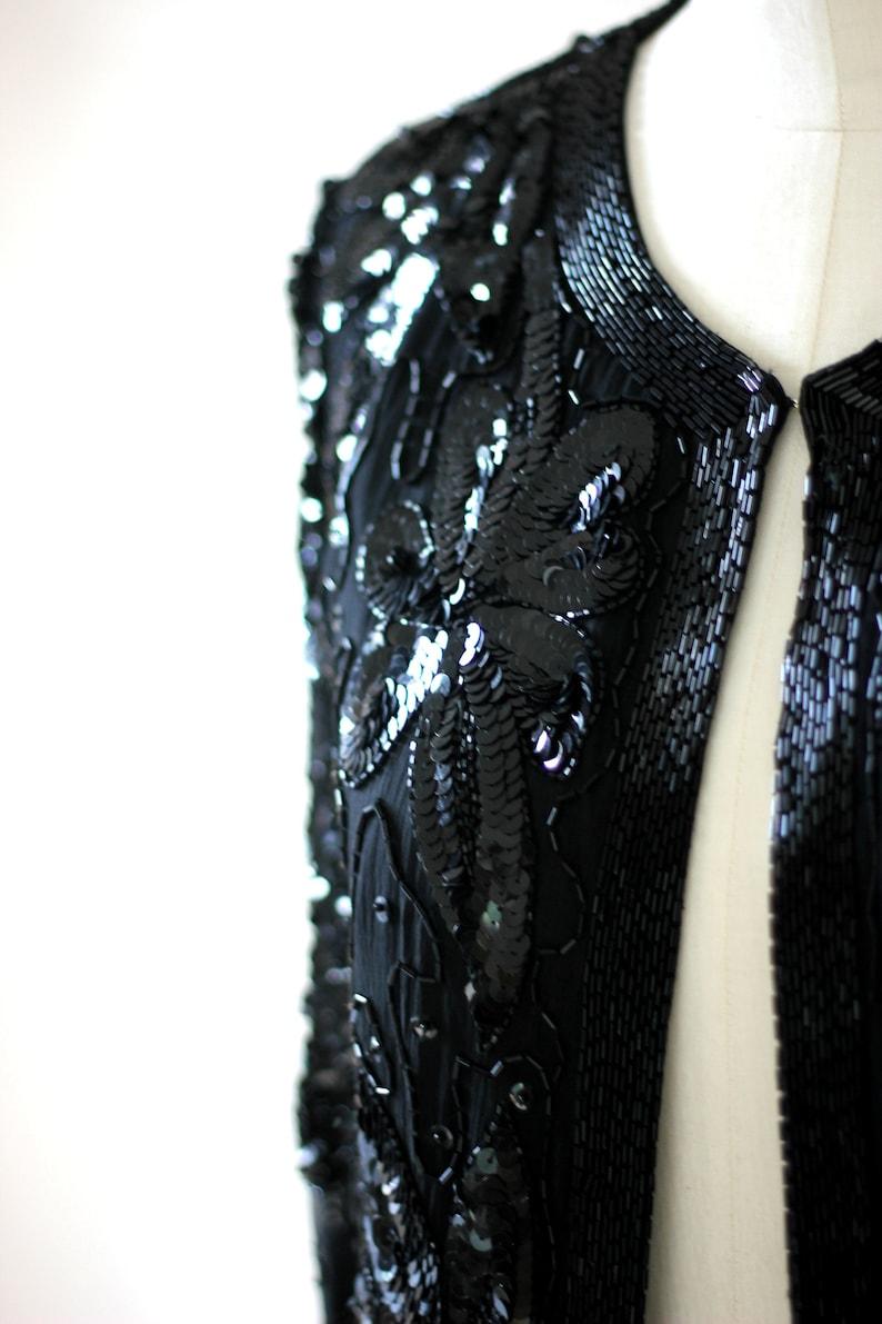 Vtg Lillie Rubin Sequin Jacket  Beaded size Medium
