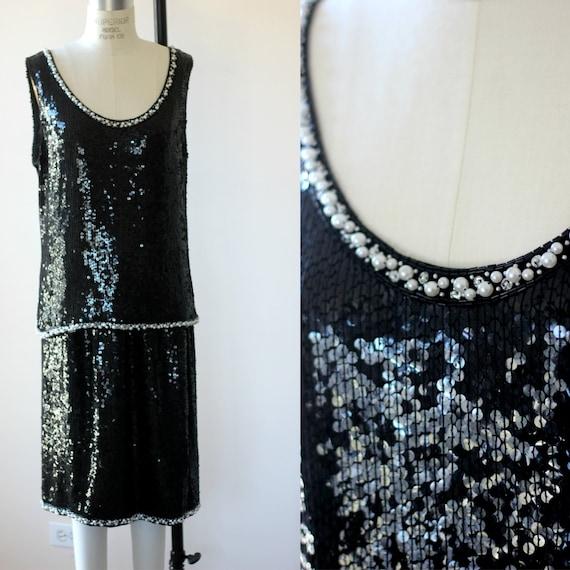 XXL//Judith Ann Plus Sequin Top & skirt// Pearl be