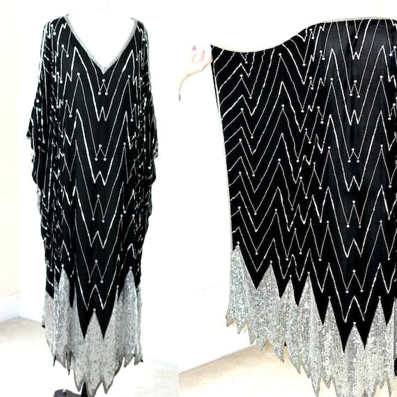 One Size Plus//STAGE Plus size Silk sequin Black K