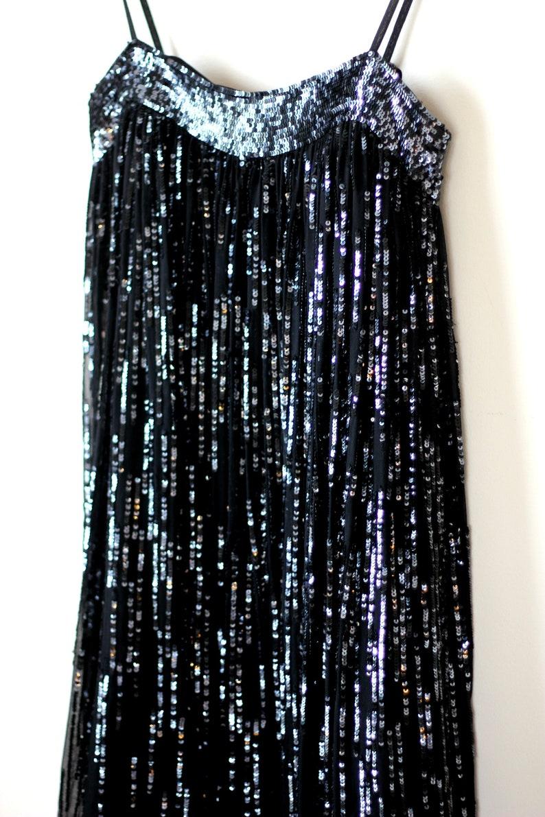 Scala Sequin Bubble hem Party dressVintage Flapper Style
