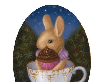 Bunny Rabbit Fantasy Animal Art Print Nature