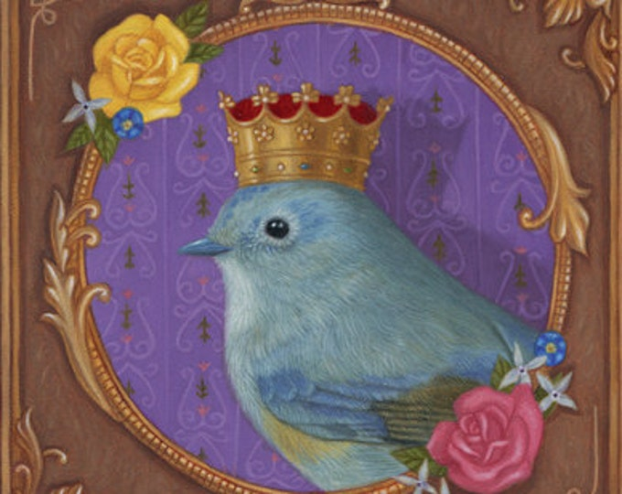 Bird Queen Fantasy Fancy Animal Art Print Nature