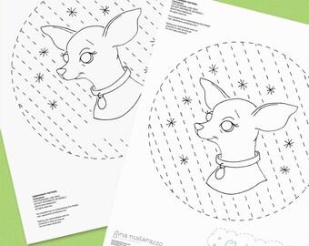 Chihuahua Embroidery Pattern