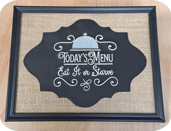 Kitchen Sayings Set Machine Embroidery Design Files Instant Etsy