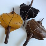 Leaf Hair Stick Barrette - Eco Friendly Leather