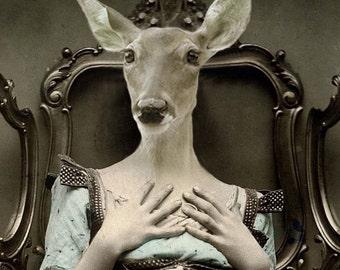 Deer Lucy 8x10 Anthropomorphic print