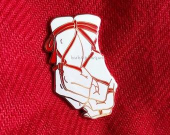 PREORDER - Shibari hands enamel pin