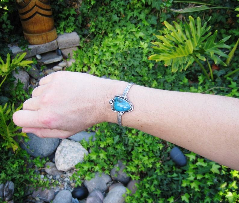 Shattuckite Cuff Bracelet in Oxidized Sterling Silver