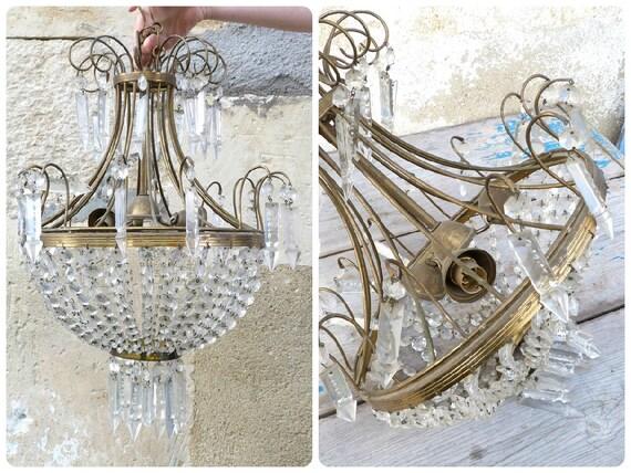 Französische Kronleuchter Antik ~ Antike französische kronleuchter decke tasche basket stil etsy