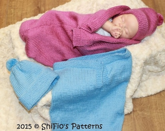 24a025df5458 KNITTING PATTERN For Baby Bobble Cocoon Papoose   Hat in 2