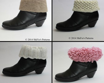 KNITTING PATTERN For Wellington Wellies Boots Topper in 2 Sizes PDF 205 Digital Download