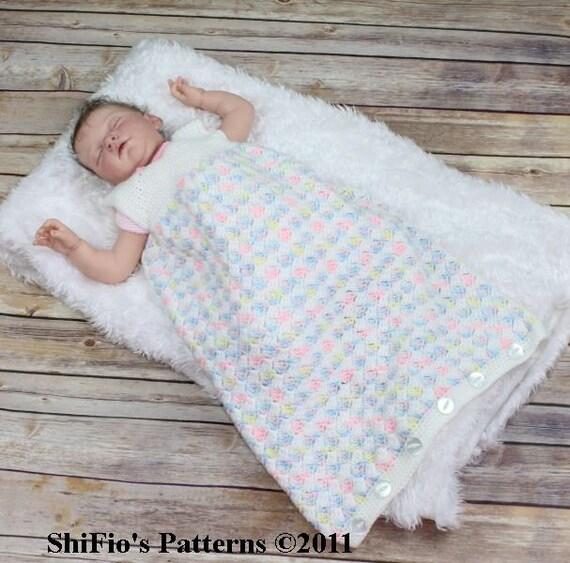 Baby Crochet Pattern Cocoon 2 Sleeping Bag Crochet Pattern 3   Etsy