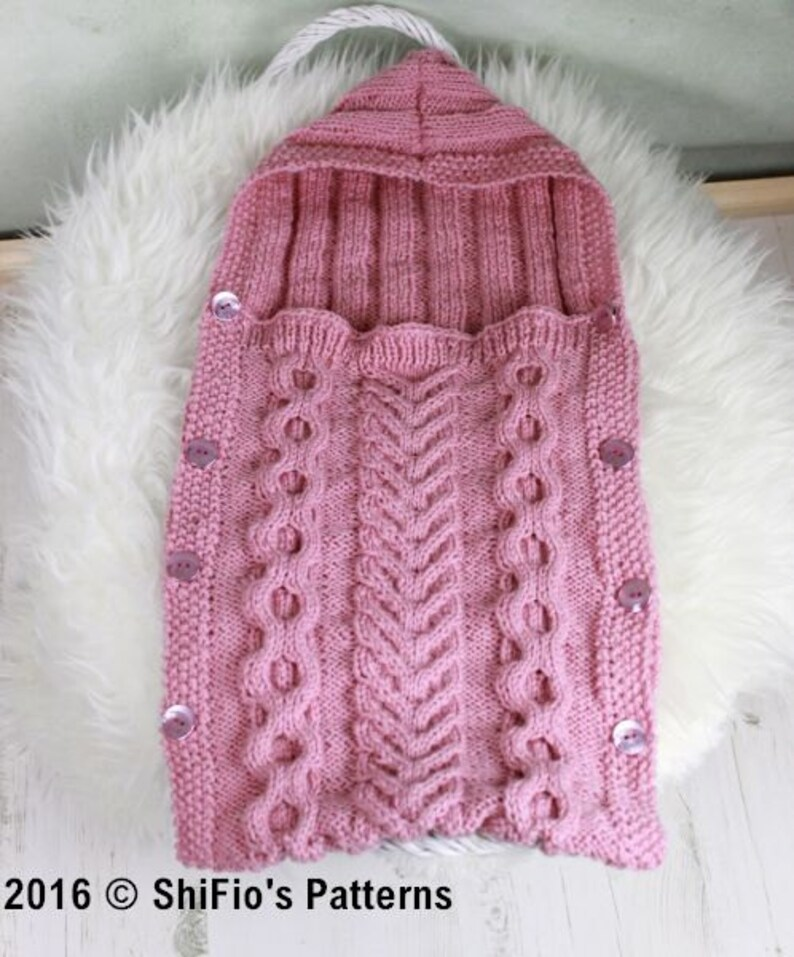 bf2d5e5a07f3 Knitted Baby Sleeping Bag Pattern Baby Cocoon Pattern