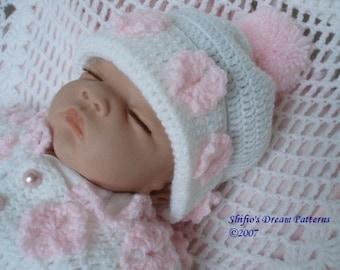 Baby Crochet Pattern Daisy Pram Suit Onesie, Hat Crochet Pattern DIGITAL DOWNLOAD 70