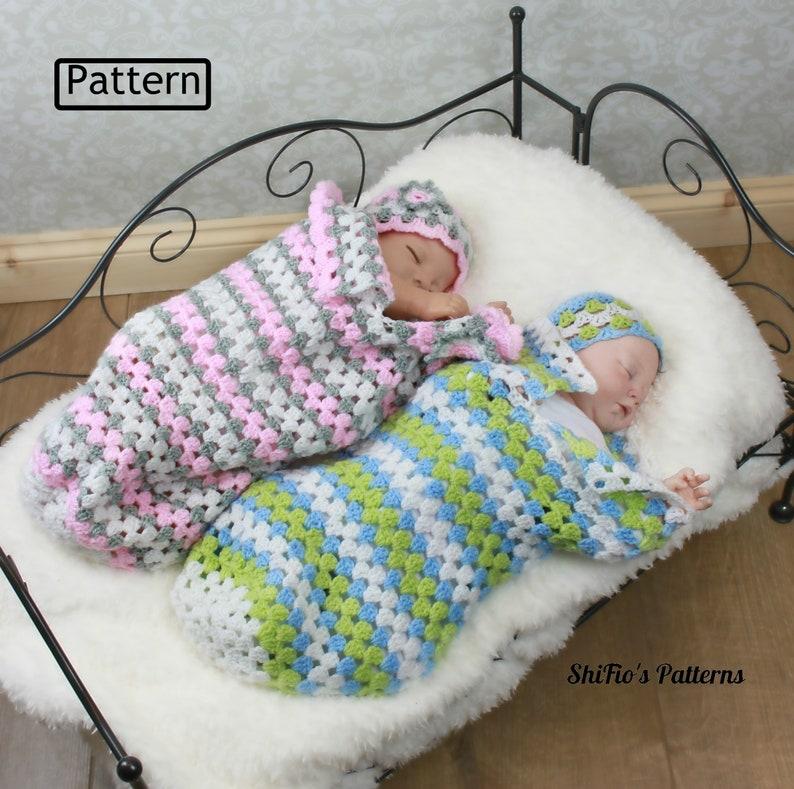 a0654f815f82 Crochet Pattern Granny Stitch Baby Cocoon Sleep Sack