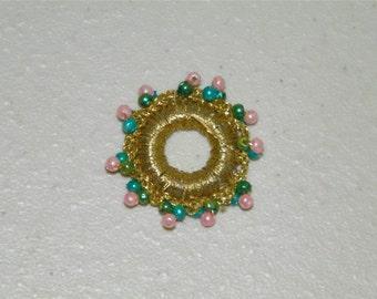 52 Gold Beaded Round Trim Circle Metallic 11950