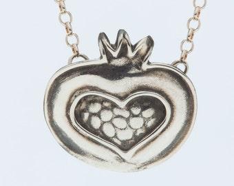 Pomegranate Heart Necklace